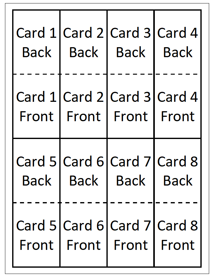 layout of cards in print and play file