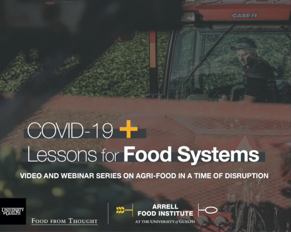 a link to the Arrell Food Institute's webinar on what we can learn from COVID-19
