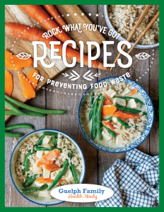 rock what you've got cookbook cover page